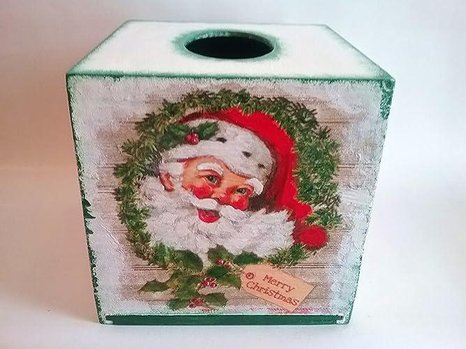 Amazon.com Christmas tissue box cover, Christmas gift ideas