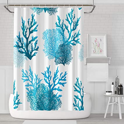 Image Unavailable Not Available For Color Asoco Shower Curtain Blue Coral