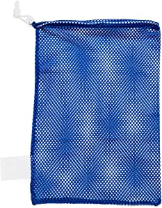 Champion Sports Mesh Sports Equipment Bag - Multipurpose Nylon Drawstring Sack with Lock and ID Tag for Balls, Beach, Laundry