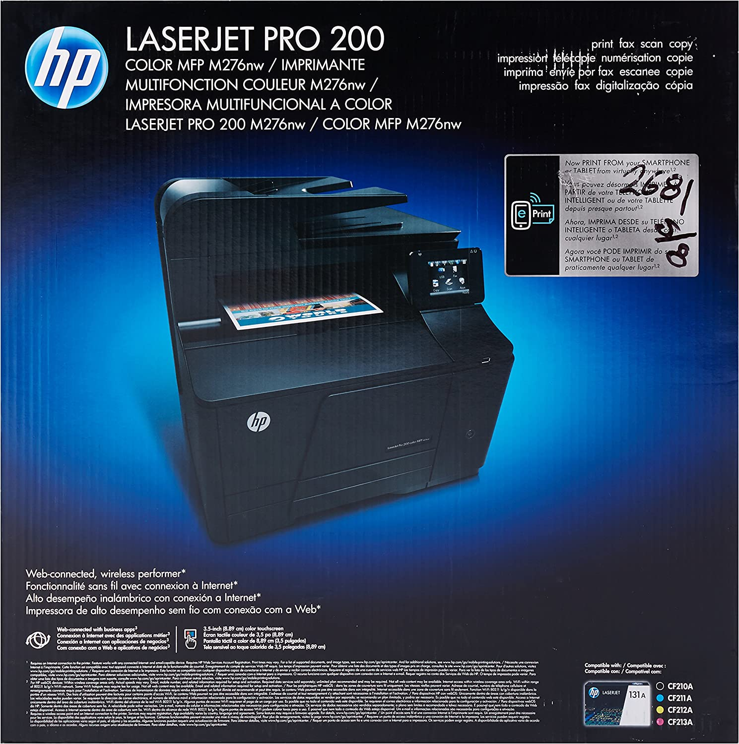 HP LaserJet Pro 200 M276nw All-in-One Color Printer (Old Version)