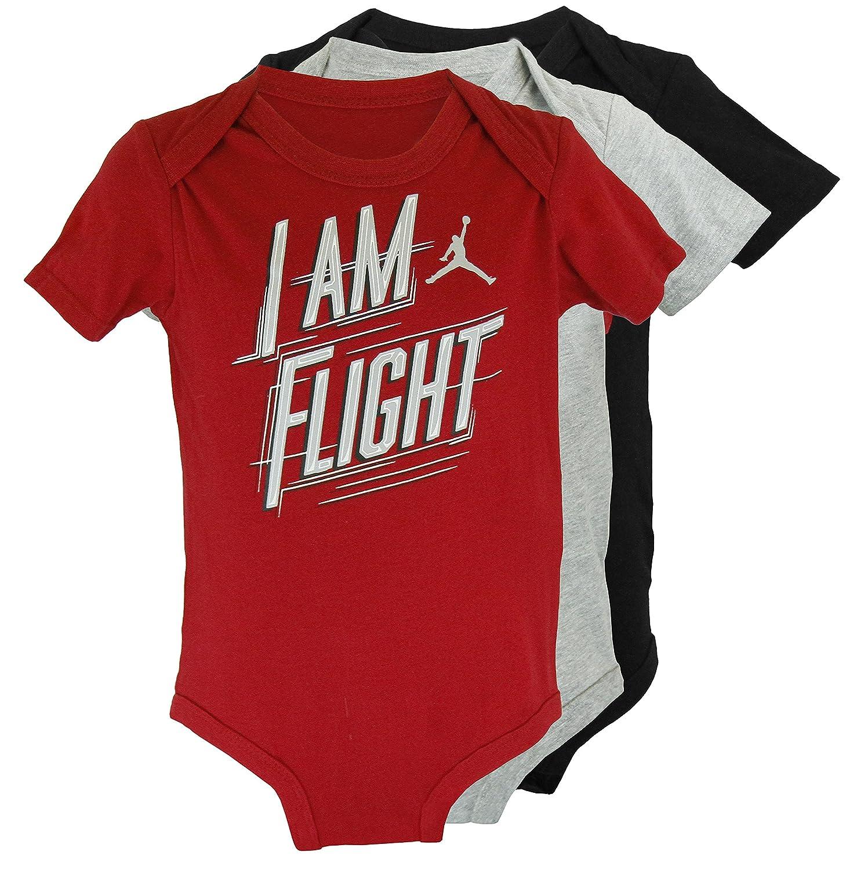 fc2156afbb34ff Amazon.com  Nike Baby Boy Air Jordan 3 PC Bodysuits - Black