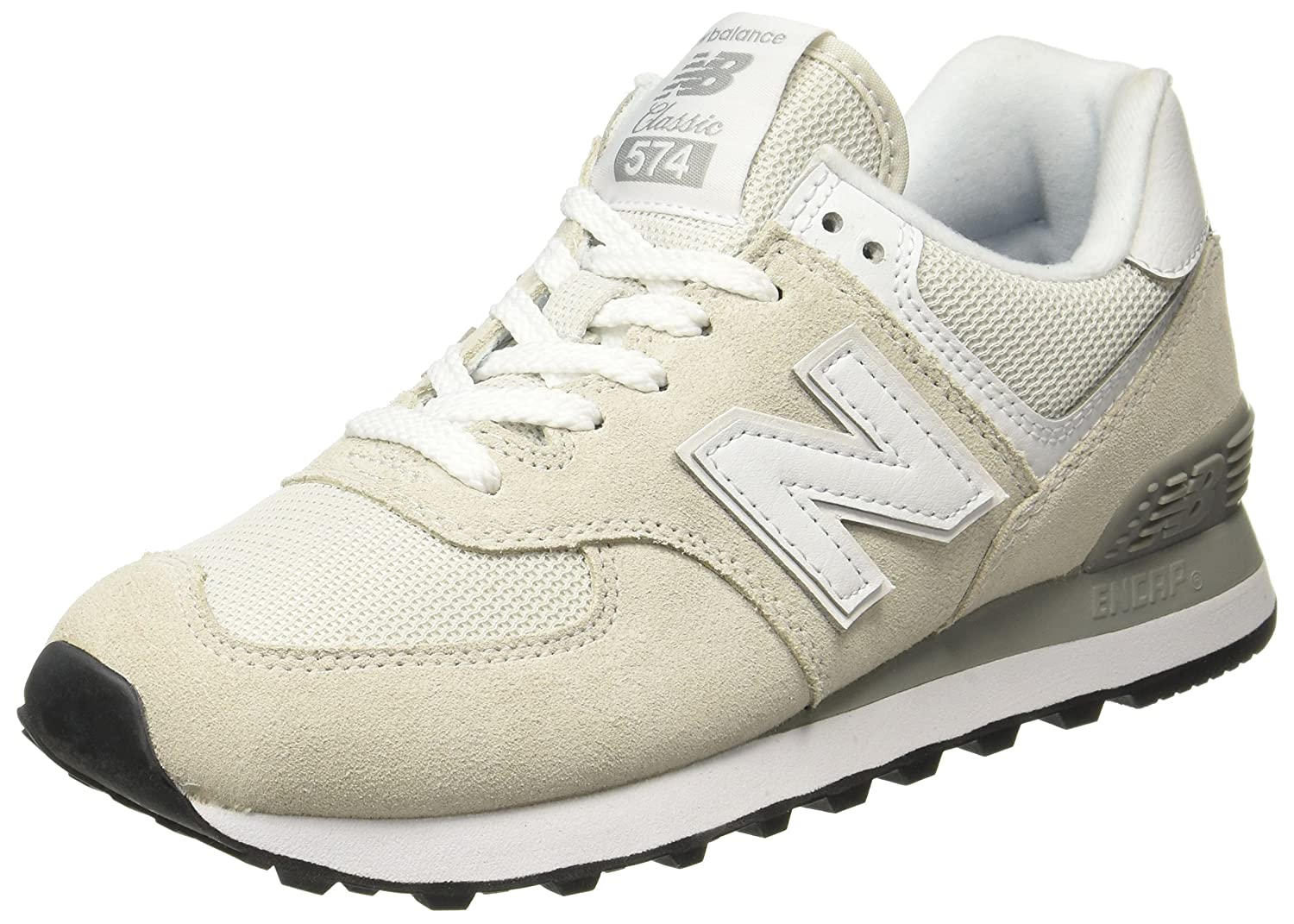 New Balance Wl574, 19534 Bottes Classiques Blanc Femme Blanc (Beige Balance/White) b2200fd - reprogrammed.space