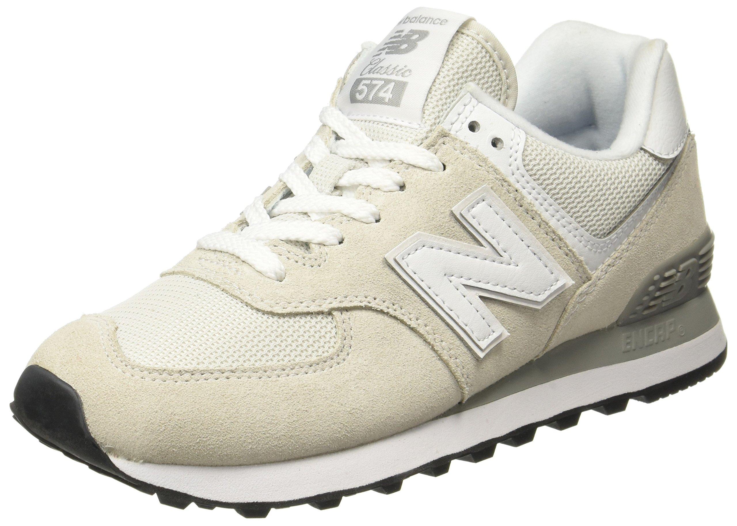 sports shoes 556bb 1aca7 New Balance Women's 574 Core Sneaker, White, 7 B US
