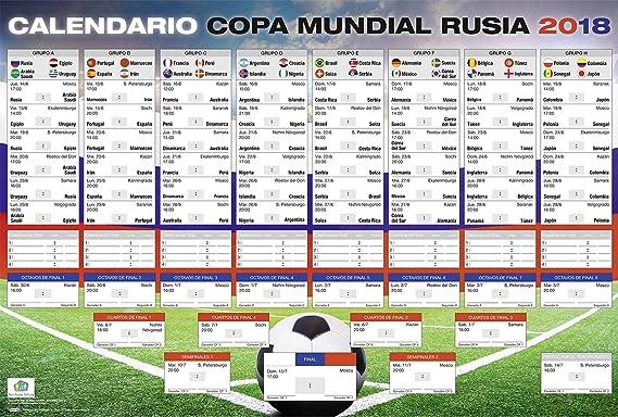 Póster XL | Calendario de la Copa Mundial de Fútbol 2018 en Rusia ...