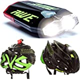 AWE® AWEDual 360°TM USB Worlds Lightest/Smallest Helmet Light Front/Rear Recharging 40 Lumens