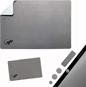 Mouse Pad Adhesive Bottom - Sticks to Any Surface - Portable - Webcam Covers and Screen Cleaner Included (Gray)