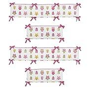 Sweet Jojo Designs Happy Owl Collection Crib Bumper