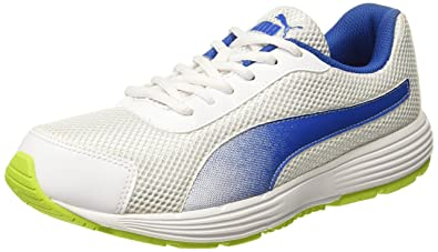Puma Men's Aeden Blue Depths-Cherry Tomato Running Shoes - 10 UK/India (