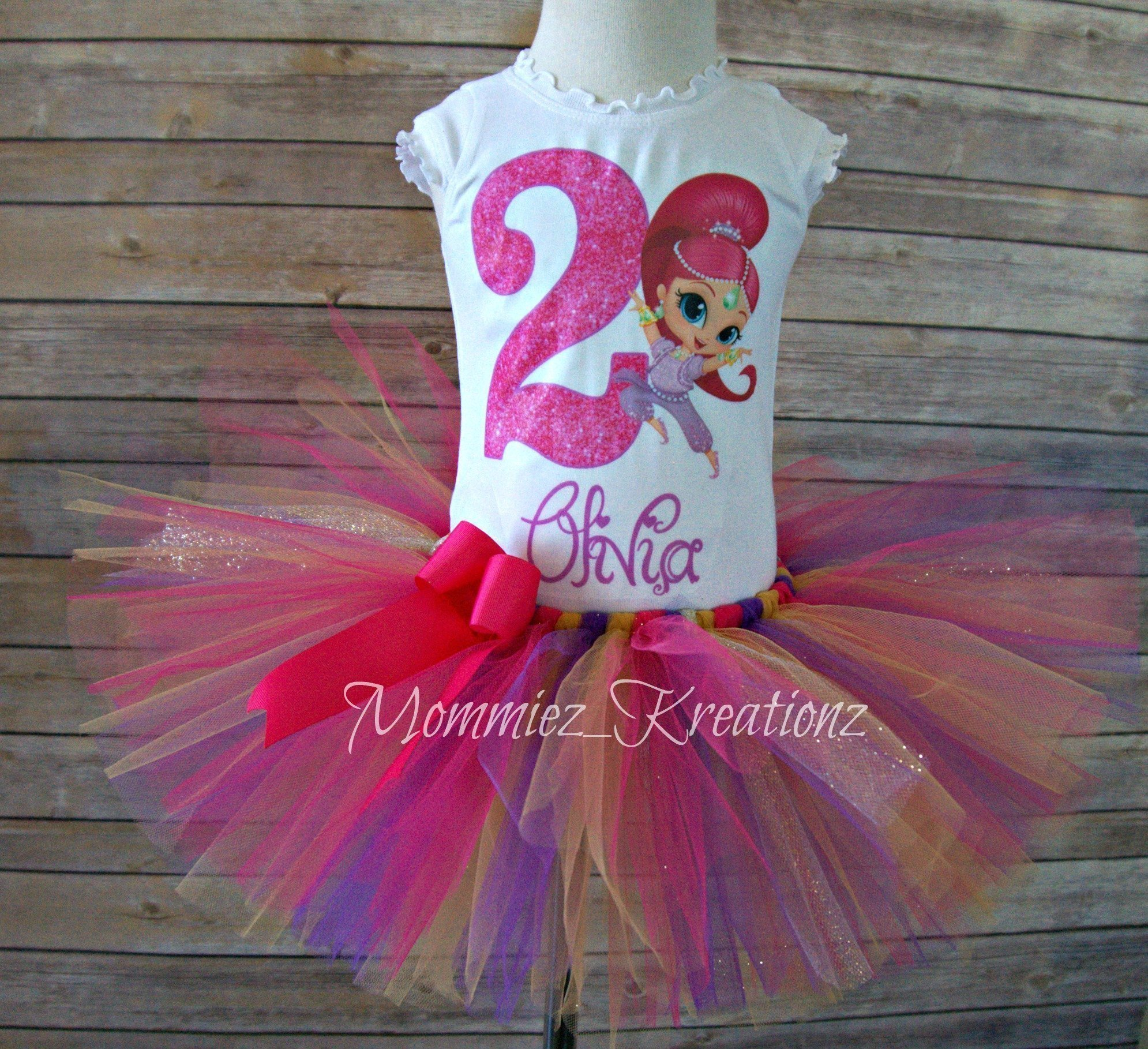 Shimmer Tutu Set,Shimmer & Shine Tutu Set, Shimmer and Shine Birthday Outfit