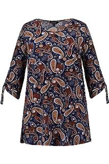 En Femme Tailles Col Popken Poches Grandes T Shirt V Avec Ulla Coton Nm8vnO0ywP