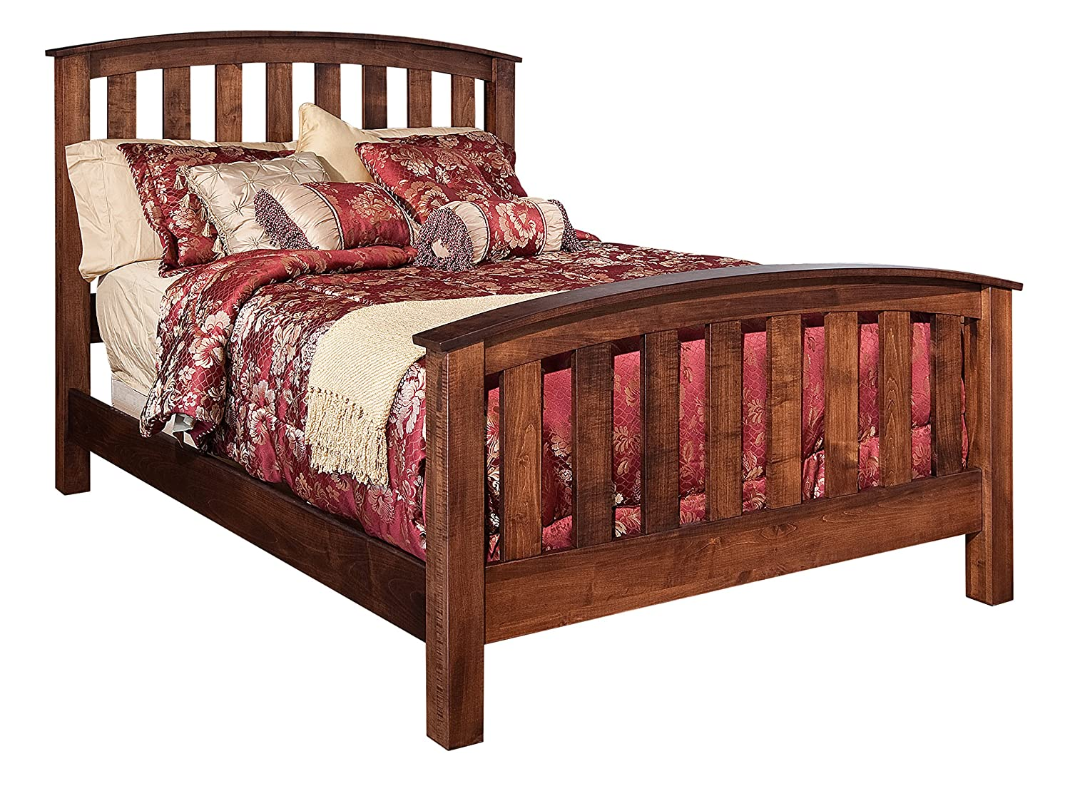 Craftsman arts craft mission bed frame set for Mission style bed frame plans