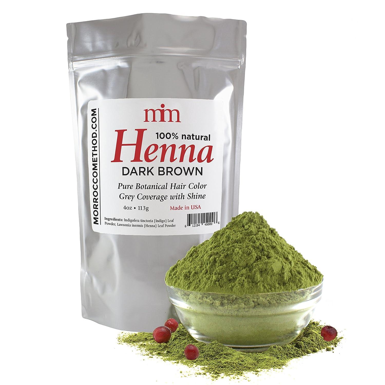 Morrocco Method Dark Brown Henna Hair Dye 4500
