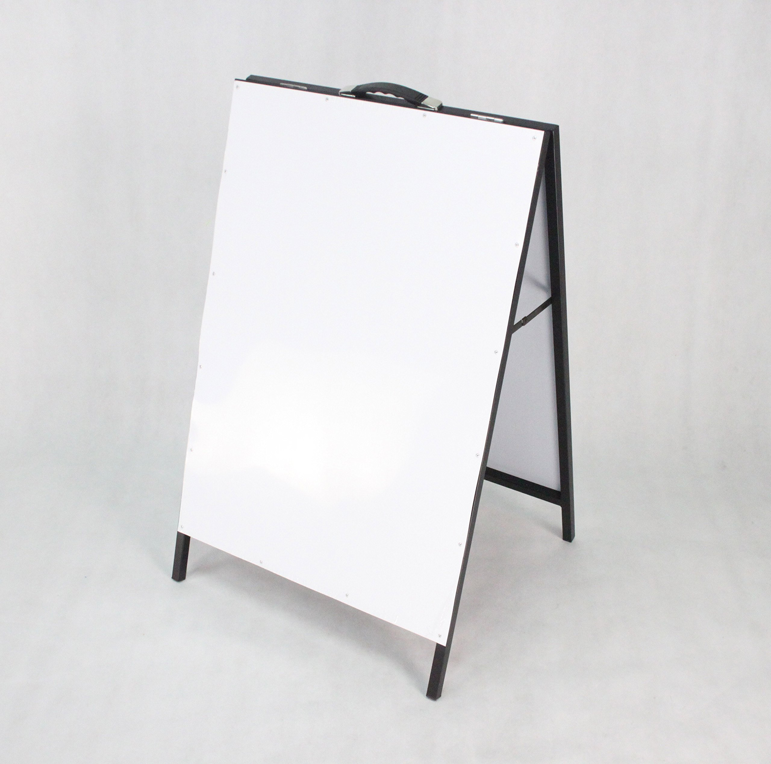 FixtureDisplays A-Frame Metal Board White Dry and Wet Erase Sidewalk Sign 1134