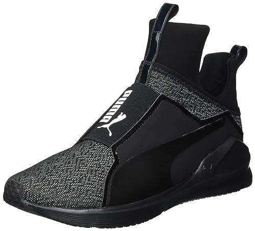 fd855182c4a90a PUMA Women s Fierce Varsity Knit Wn Sneaker Black