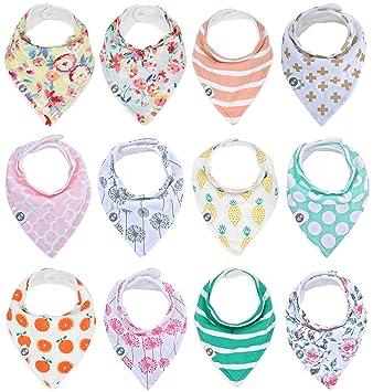 Amazon.com: Baberos de algodón para niñas ...