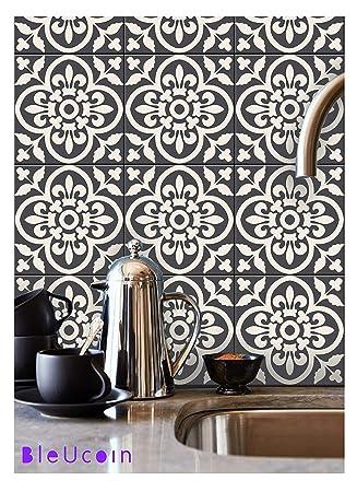 Encaustic Marokkanischen Fliesen Aufkleber Für Küche Badezimmer Backsplash,  Treppen Riser Abziehbild, Schale Und