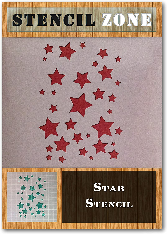 A1 Gr/ö/ße Stencil - XLarge Stern Mylar Airbrush Painting Wall Art Schablone sechs