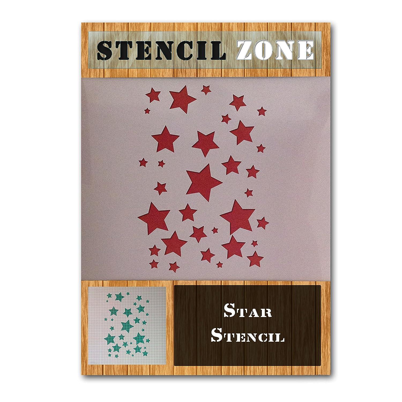Stencil per pittura murale con aerografo, a forma di stelle, in Mylar A1 Size Stencil - Xlarge STENCIL ZONE