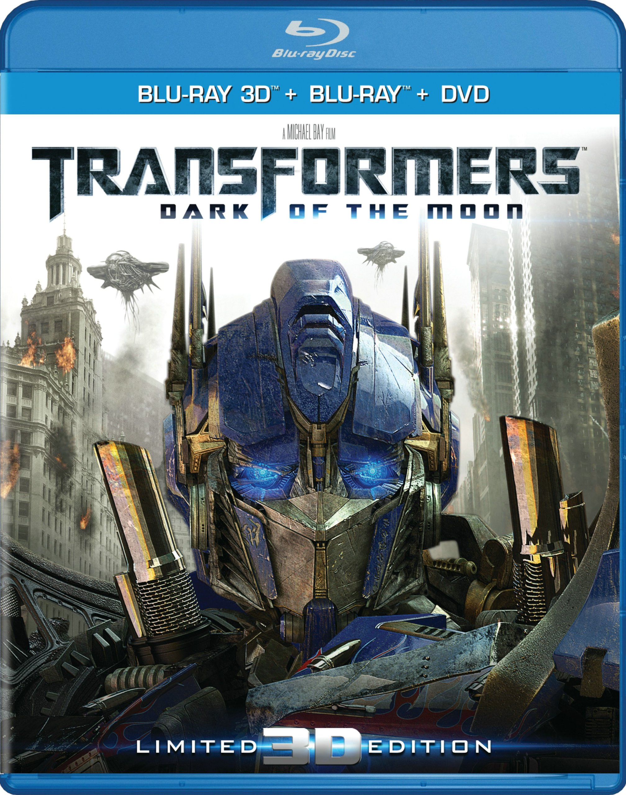 Blu-ray 3D : Transformers: Dark of the Moon (Ultimate Edition, Ultraviolet Digital Copy, Boxed Set, Dolby, AC-3)