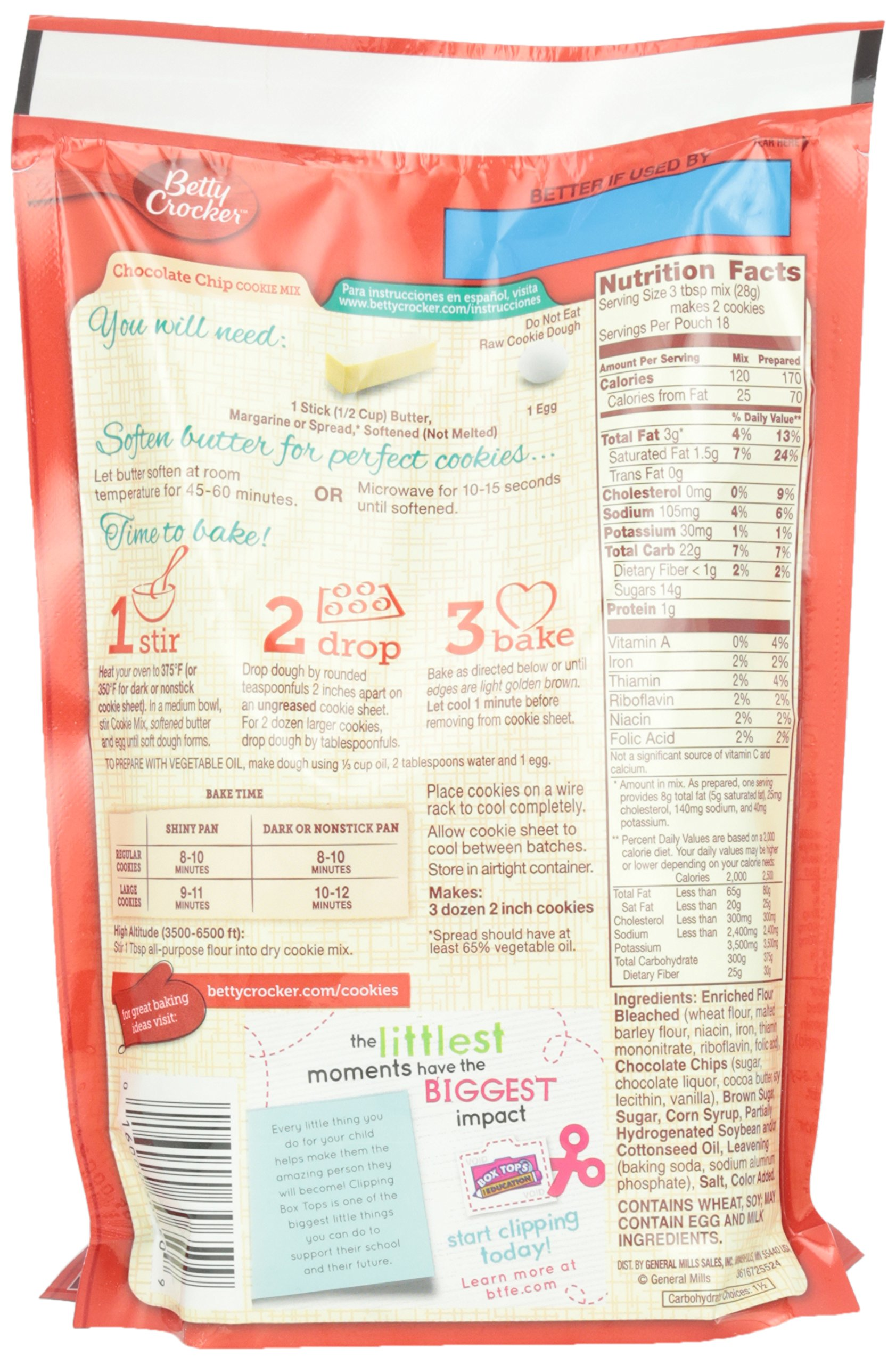 Betty Crocker Cookie Mix, Chocolate Chip, 17.5 oz Pouch (Pack of 12) by Betty Crocker (Image #4)