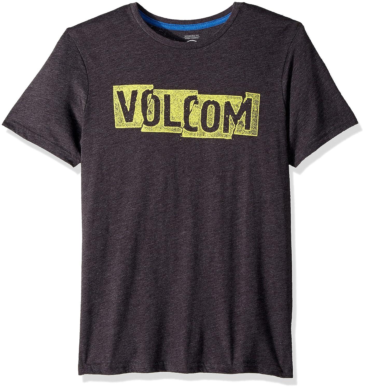(ボルコム) VOLCOM < メンズ > 半袖 プリント Tシャツ (モダンフィット) [ A5711802/Edge S/S Tee ] おしゃれ ロゴ B072PSZ3VB 3L|ヘザーブラック ヘザーブラック 3L