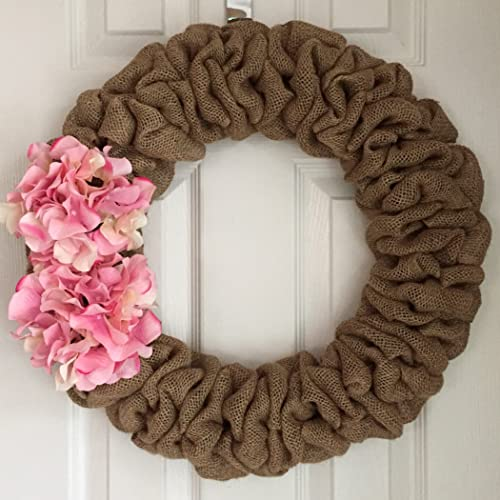 "16/"" total diameter Handmade Ready-to-Decorate BURLAP WREATH"