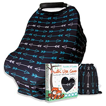 Multi-Use Stretchy Car Seat Cover Canopy Nursing Cover baby Carrying Cloth Case