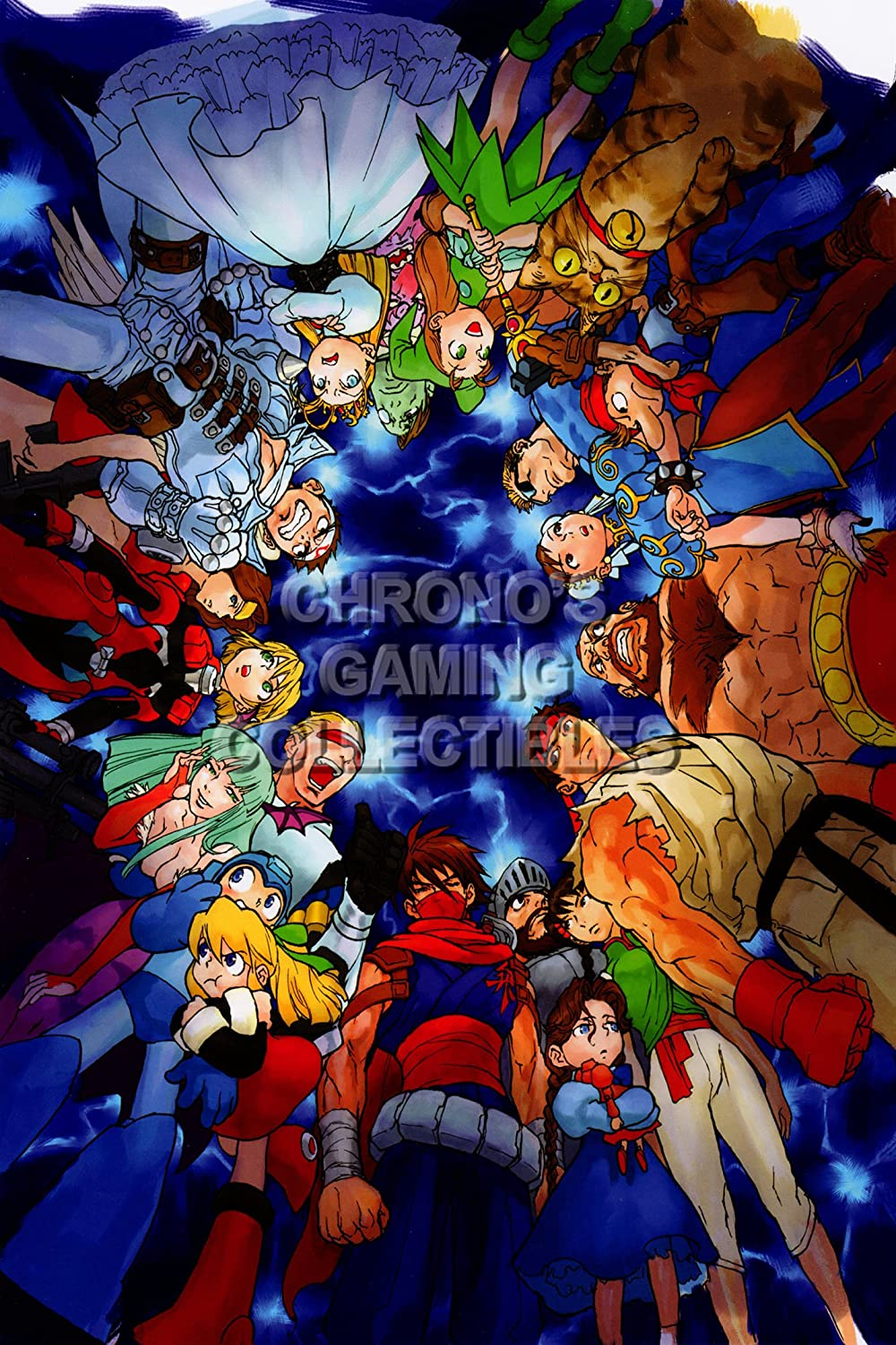 CGC enorme cartel - Marvel vs Capcom 2 New Age of Heroes PS2 ...