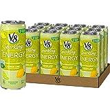 V8 Sparkling +Energy, Healthy Energy Drink, Natural Energy from Tea, Lemon Lime, 11.5 Ounce Can