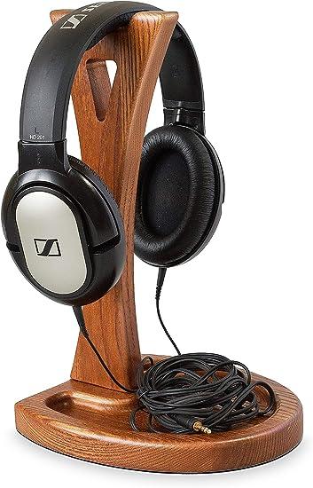 New Universal Wooden Earphone Headset Hanger Holder Headphone Desk Monitor Stand