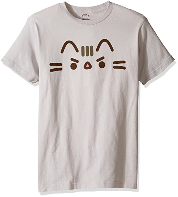 Pusheen -Camiseta Hombre Plateado Plata Medium