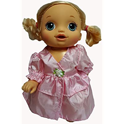 Doll Clothes Superstore Pink Party Dress Fits Baby Alive Go Go and Little Baby Dolls: Toys & Games