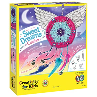 Creativity for Kids Make Your Own Sweet Dreams Catcher Weaving Kit: Toys & Games