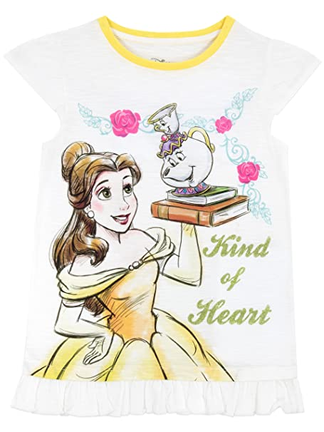 3c14bb339 Amazon.com: Disney Girls' Beauty and the Beast T-Shirt 2T: Clothing