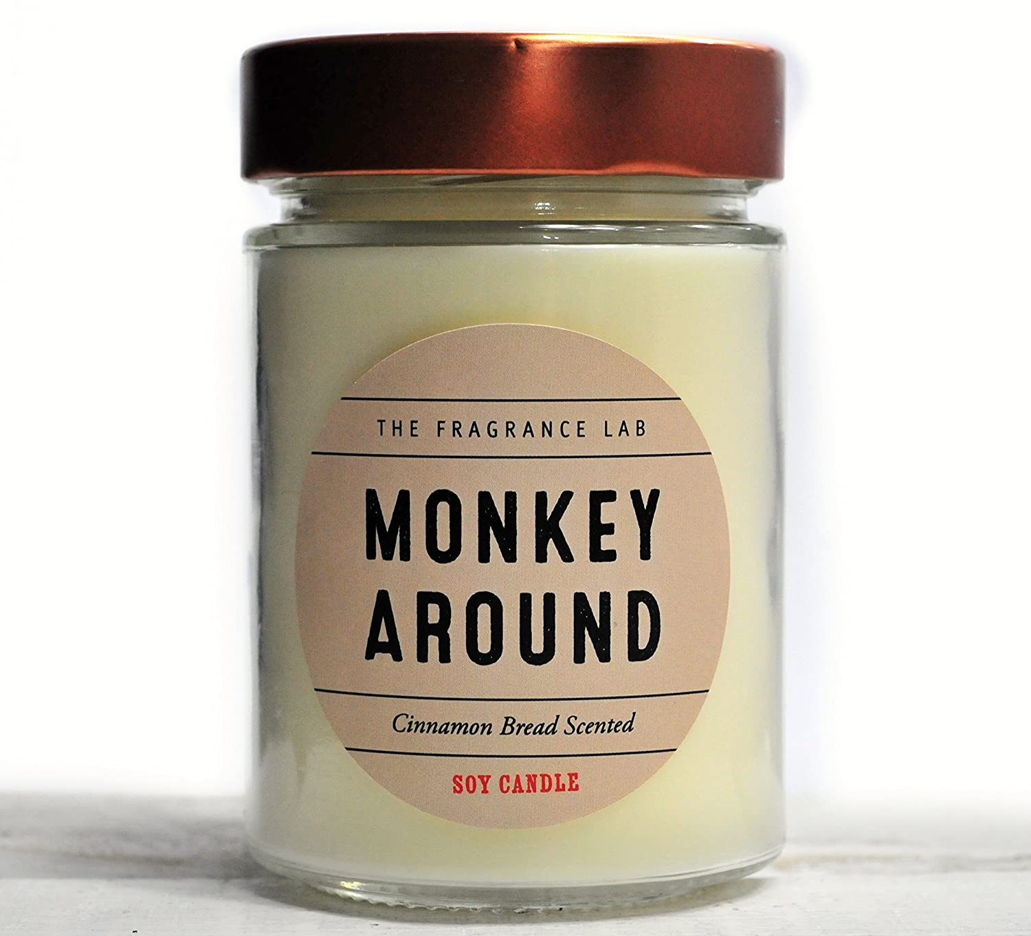 Handmade Soy Candles -Monkey Around Cinnamon Bread Scented | The Fragrance Lab