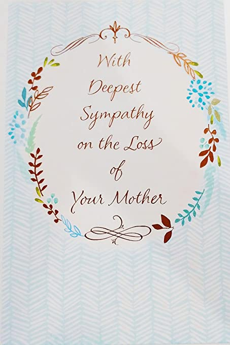 Amazon with deepest sympathy on the loss of your mother with deepest sympathy on the loss of your mother greeting card rip death funeral of m4hsunfo