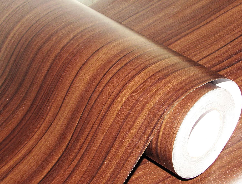 Cvanu Self Adhesive Wood Grain Wallpaper Waterproof Old Furniture Vinyl Stickers Wooden Door Wardrobe Wall Papers Cv270 24x72inch