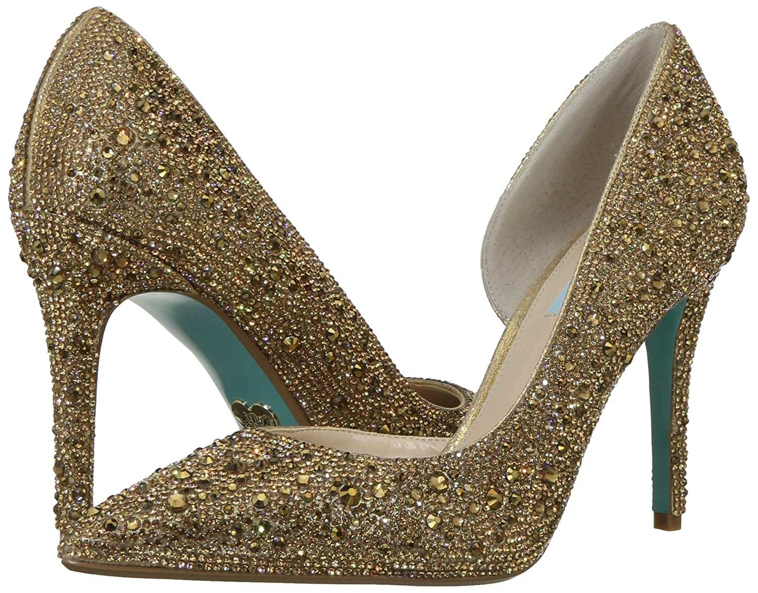 Blue by Betsey Johnson Women's Sb-Hazil Pump B079PPTT96 6.5 M US|Gold