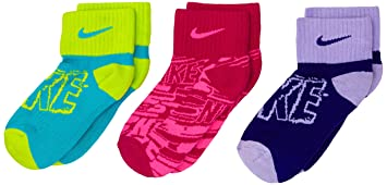 Nike 3P Girl S Graphic CTN Cush QTR - Calcetines para niños, color verde/