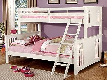 Amazon.com: Furniture of America Denny TwinXL-Queen Bunk Bed ...