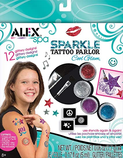 254ddd301 Amazon.com: Alex Spa Sparkle Tattoo Parlor Cool Glam: Toys & Games
