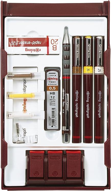Rotring 24524X - Set de dibujo técnico: Amazon.es: Oficina y papelería