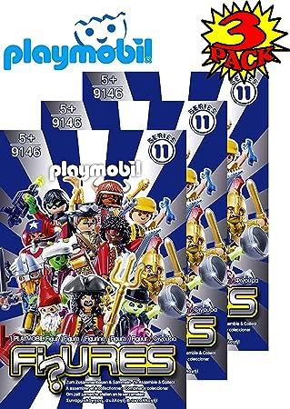 PLAYMOBIL Figuras Misterio Blind Bags Series 11 Boys 9146 (Azul) Set de Regalo Party Bundle – Paquete de 3 (Surtido): Amazon.es: Juguetes y juegos