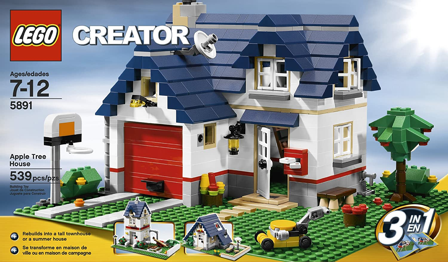 Amazon.com: LEGO Creator Apple Tree House (5891) - 539 Piece set  (Discontinued by manufacturer): Toys & Games