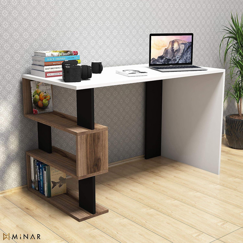 Bravo Home Snap Mini Studying Desk (Walnut And White)