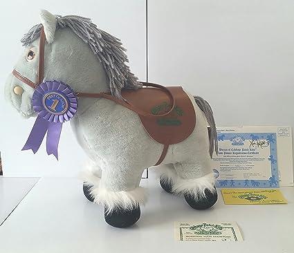 Amazon. Com: vintage cabbage patch kids show pony (rare) blue gray.