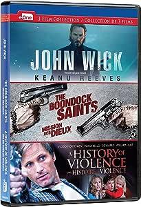 John Wick/Boondock Saints/History of Violence: DVD Triple Feature (Bilingual)