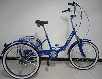 """Scout Triciclo para Adultos, Marco Plegable, Ruedas DE 24"""", Engranajes Shimano de"""