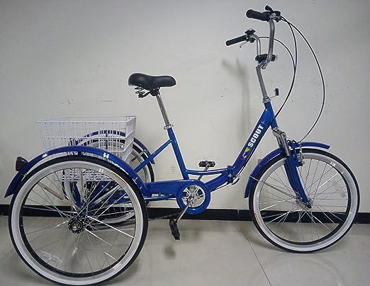 Scout Triciclo para Adultos, Marco Plegable, Ruedas DE 24