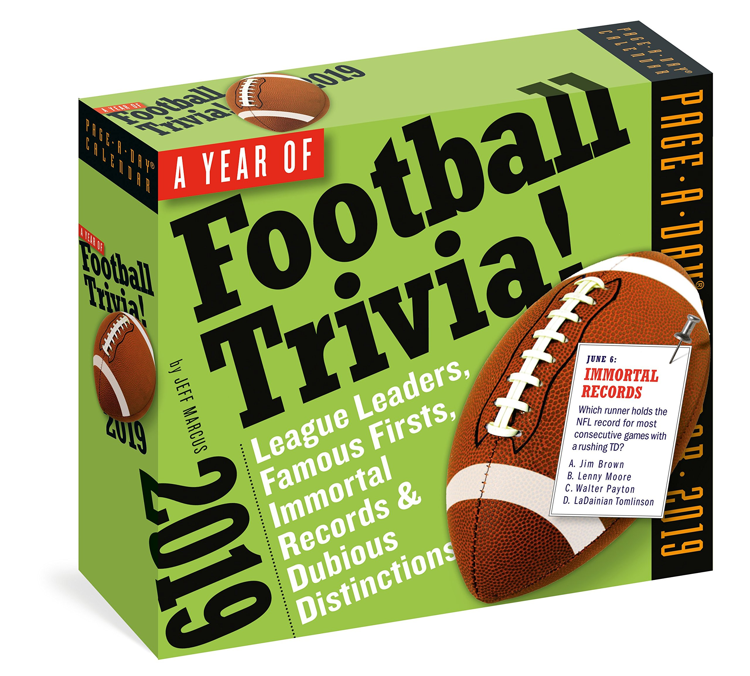 A Year of Football Trivia! Page-A-Day Calendar 2019 by Workman Publishing Company
